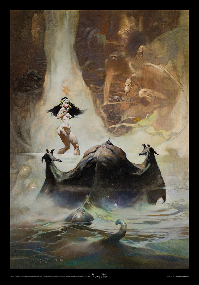 'At Earth's Core' by Frank Frazetta, limited-edition print by Robert Rodriguez