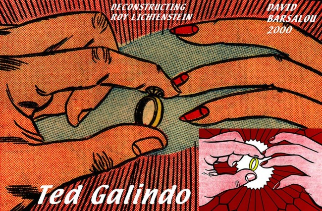 Roy Lichtenstein painting based on the work of Ted Galindo.
