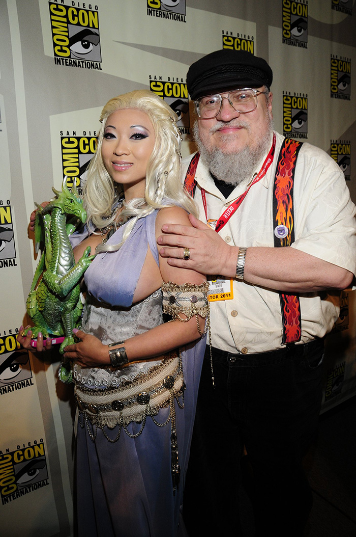 Yaha Han as Daenerys with George RR Martin by Kevin Green