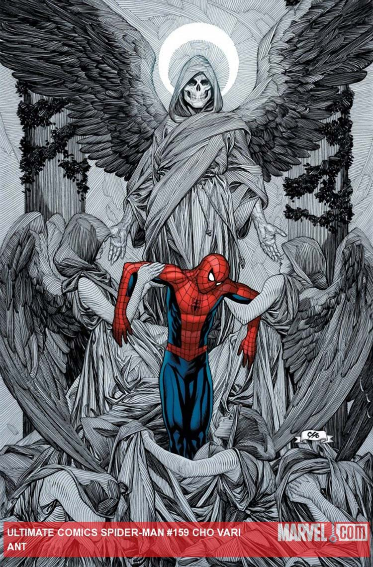 Spider Man cover art by Frank Cho