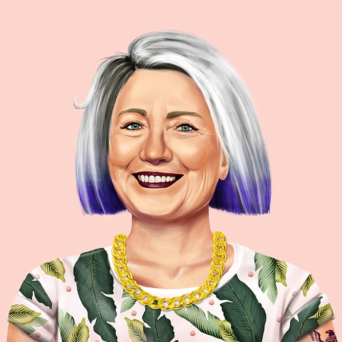 Hipster Hillary Clinton by Amit Shimoni