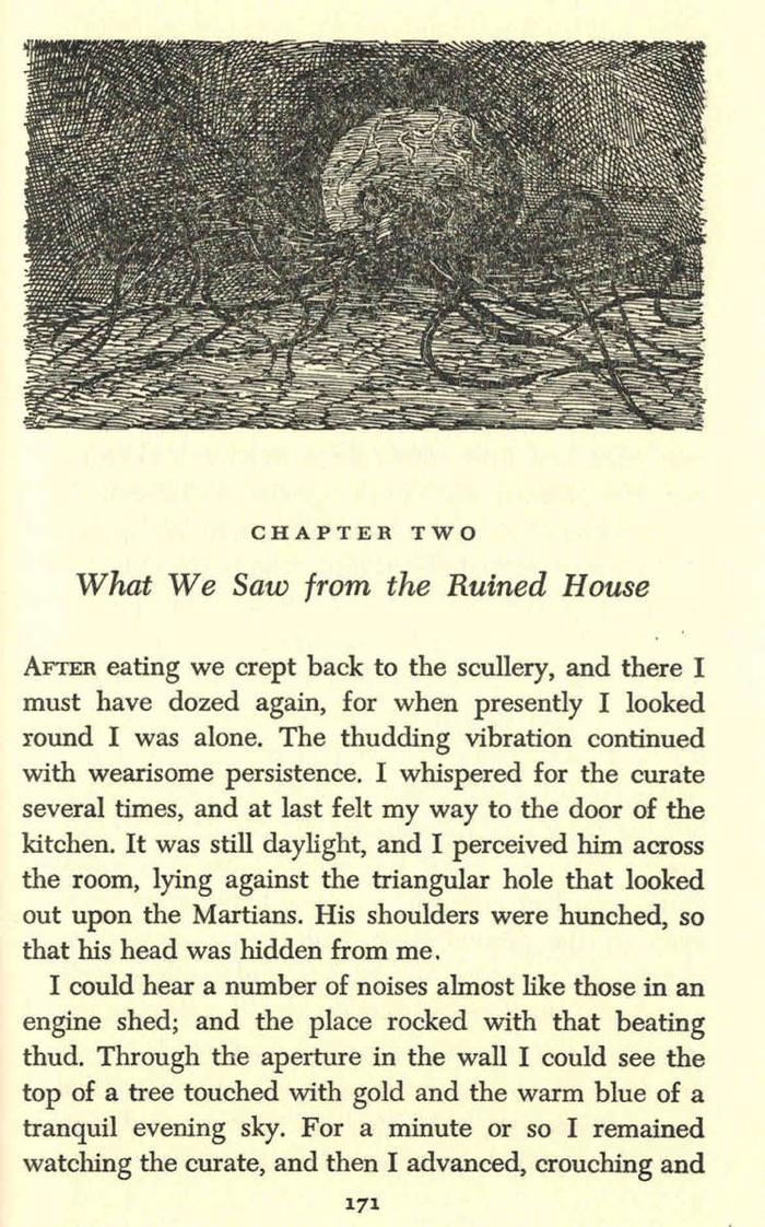 Edward Gorey illustrates War of the Worlds by H.G. Wells