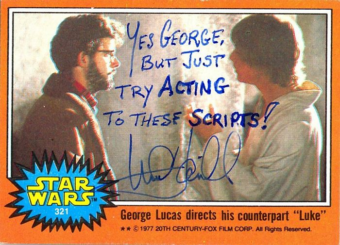 Mark Hamill autographed Star Wars card
