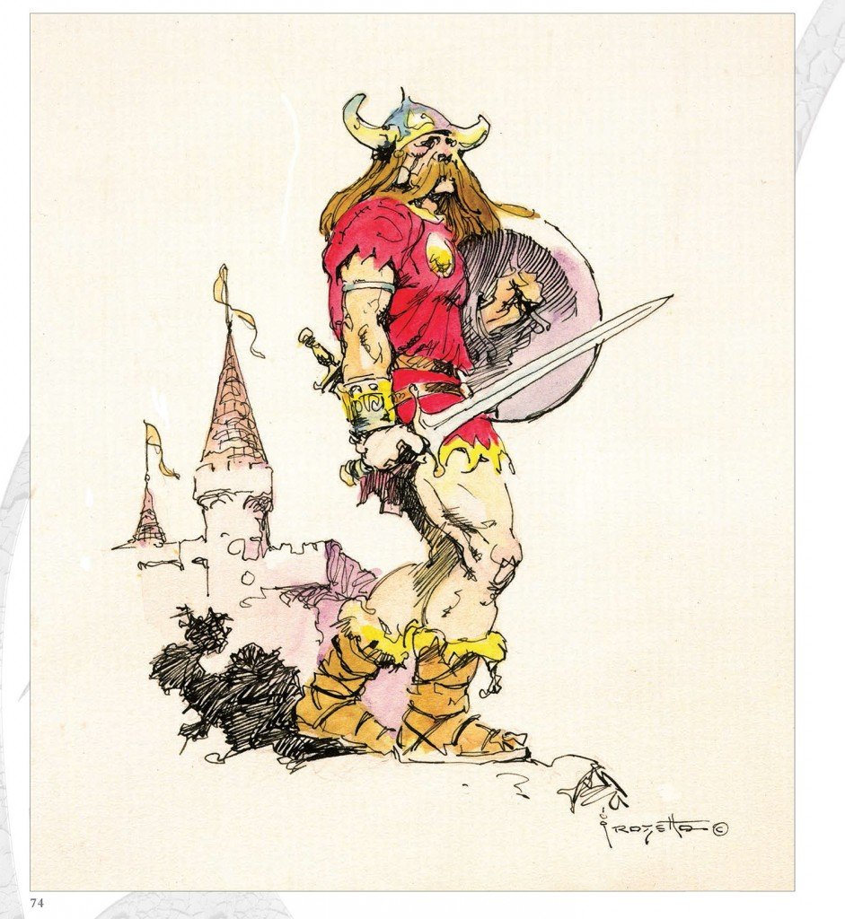 Frank Frazetta Barbarian and Castle