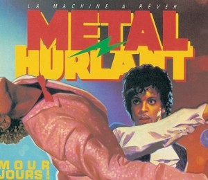 Prince and Michael Jackson on cover of Metal Hurlant