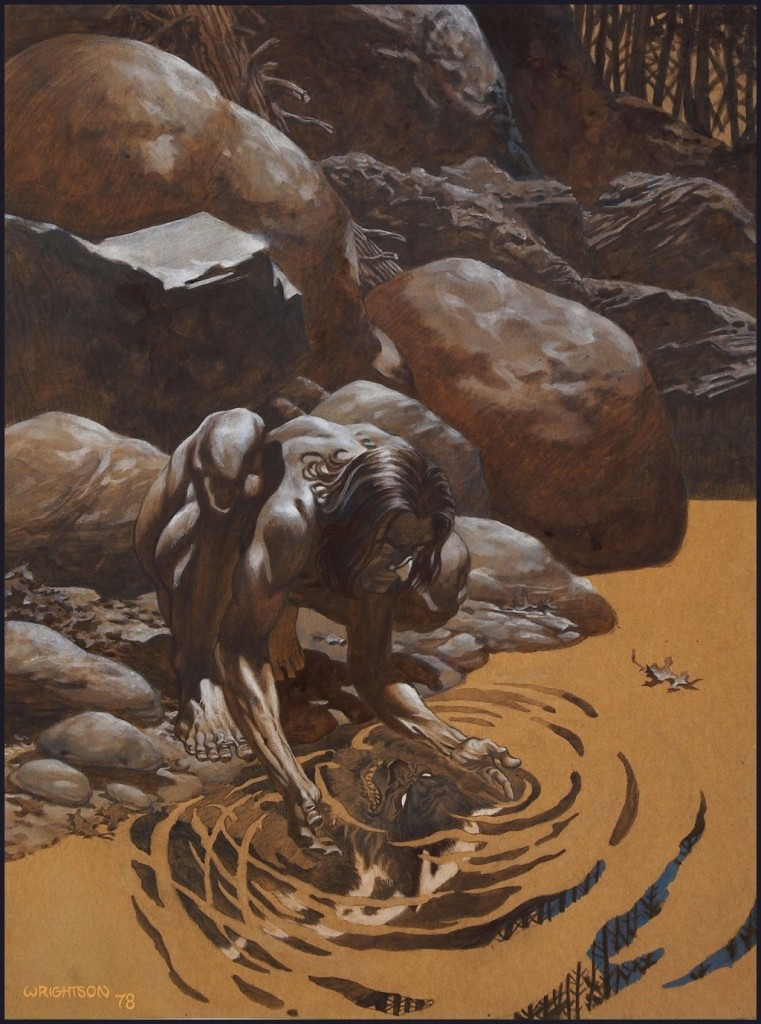 """Moon Pool"" by Bernie Wrightson"