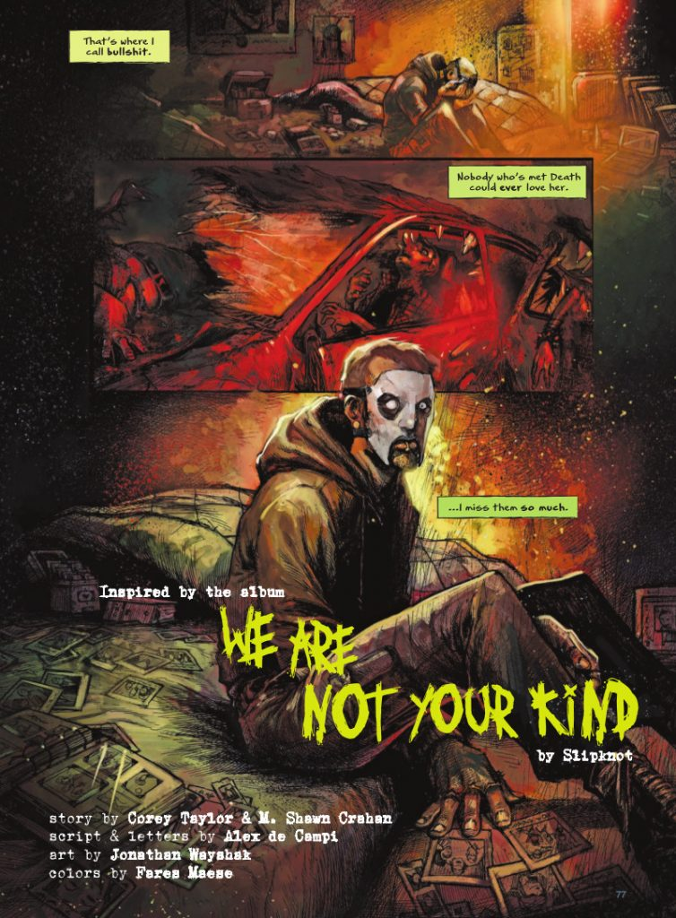 "SLIPKNOT's ""WE ARE NOT YOUR KIND"" by COREY TAYLOR, M. SHAWN CRAHAN, ALEX DE CAMPI, JONATHAN WAYSHAK, and FARES MAESE"