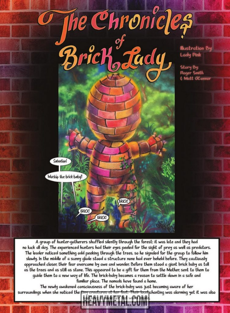 """The Chronicles of a Brick Lady,"" art by Lady Pink, words by Roger Smith and Matt O'Connor"