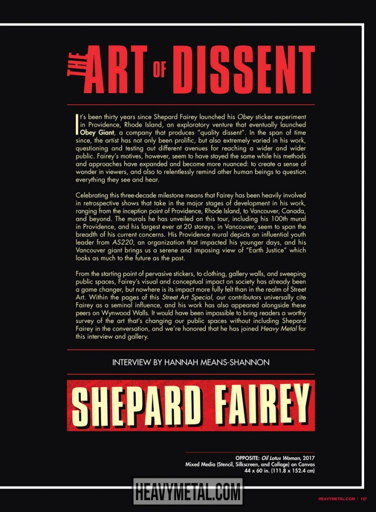 Gallery and Interview: Shepard Fairey