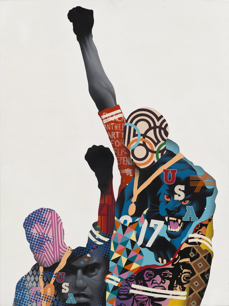 """Black Panthers"" by Tristan Eaton"